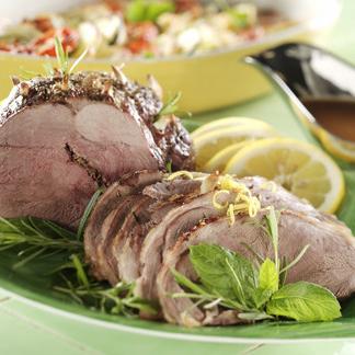 PÅSK: Lammstek med citron, vitlök,  rosmarin och mynta