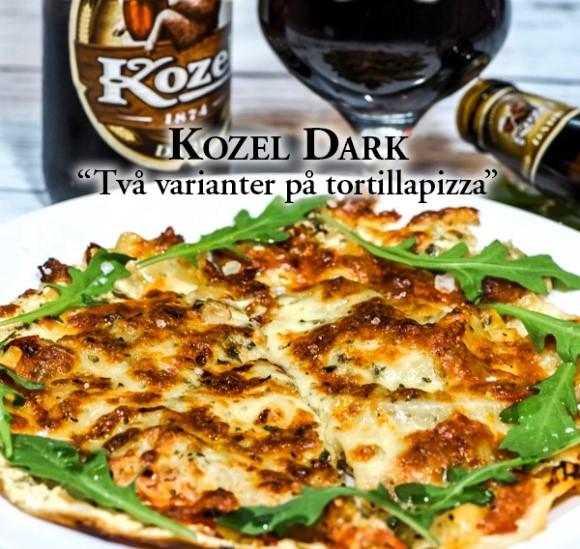 Två varianter på tortillapizza